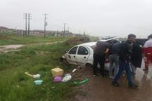 واژگونی خودرو تیبا در قوچان چهار مصدوم داشت