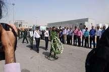 مردم بندرعباس با شهدای گمنام دوران دفاع مقدس وداع کردند