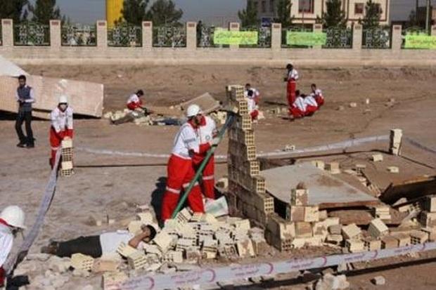 مسابقات امداد و نجات جمعیت هلال احمر قزوین آغاز شد