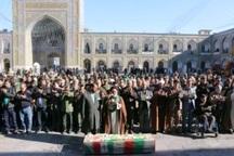 پیکر یک جانباز شهید در مشهد تشییع شد