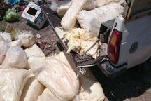 نابودی یک هزار و  340کیلوگرم پنیر فله ای لیقوان فاسد در شیراز