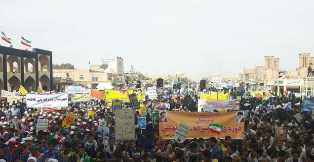 راهپیمایی ۱۳ آبان در یزد آغاز شد