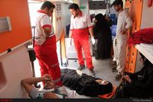 امداد رسانی هشت مصدوم در قزوین توسط امداد و نجات هلال احمر