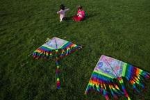 جشنواره آسمان رنگارنگ در قزوین برگزار شد