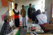 175نفر از دانش آموزان حاشه شهر زاهدان ویزیت رایگان شدند