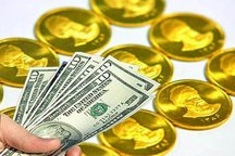 کاهش قیمت سکه و دلار در اولین روز کاری هفته
