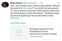 کنایه ی سنگین کارشناس ایرانی به دولت فرانسه