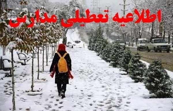 تعطیلی مدارس در بخش نظر کهریزی به علت بارش برف