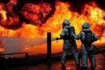 پالتهای چوبی و بشکههای روغنی عامل آتشسوزی در فولاد یزد