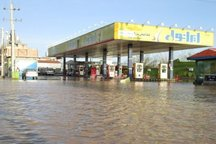 چهار جایگاه سوخت درمناطق سیل زده خوزستان وارد مدار شد