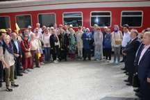 قطار هزار و یک شب با 47 گردشگر خارجی در راه فارس