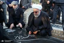 گزارش تصویری/ مراسم تشییع و یادبود خواهر رئیس جمهور روحانی