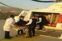 انتقال بیمار ویژه با امداد هوایی در حاشیه کرج - چالوس
