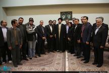 دیدار جمعی از اعضای انجمن صنفی مدیران رسانه با سید حسن خمینی