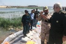 14 کیلومتر سیل بند در اطراف کانال سلمان اهواز احداث شد