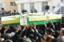 پیکر 2 شهید مدافع حرم در کاشان تشییع شد
