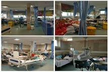پذیرش 23 مصدوم دیالیزی در بیمارستان امام خمینی کرمانشاه
