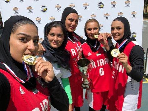 تیم بسکتبال سهنفره دختران با استقبال مسئولان به ایران بازگشتند