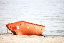 یک قایق نجات مربوط به شناور غرق شده در بندرانزلی پیدا شد