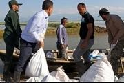 حضور معاون پارلمانی رییس جمهوری در مناطق سیل زده گلستان