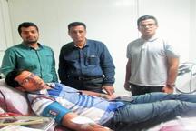 خانواده پنج نفره هرمزگانی خون اهدا کردند