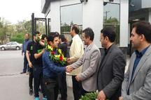 اعضاء تیم ملی هاکی جمهوری اسلامی ایران وارد اراک شدند
