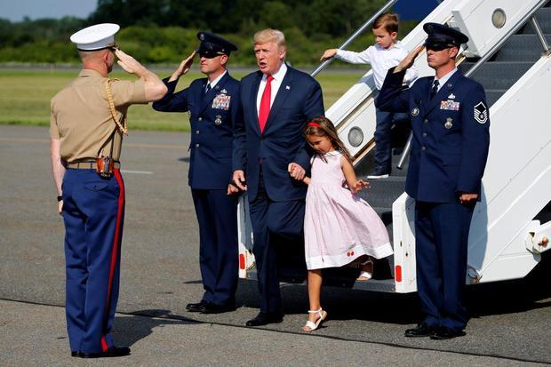 تعطیلات تابستانی ترامپ و نوه هایش+تصاویر