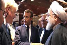 جمع سه نفره روحانی، مکرون و بوریس جانسون + عکس