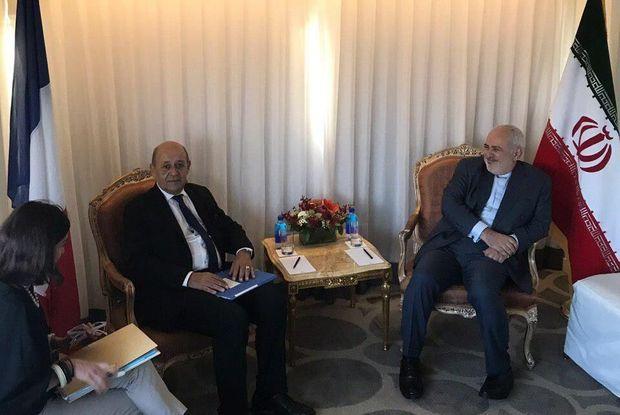 گفت و گوی وزیران خارجه ایران و فرانسه در نیویورک