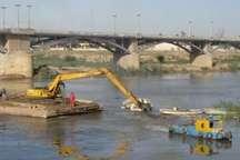 آغاز عملیات لایروبی رودخانه دز