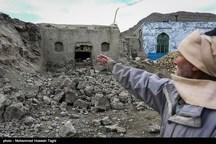 ۱۰۰۷ واحد روستایی در اثر زلزله بالای ۶۰ درصد خسارت دیدهاند