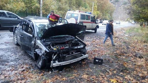 حوادث  رانندگی در جاده کرج - چالوس 10 مصدوم برجای گذاشت
