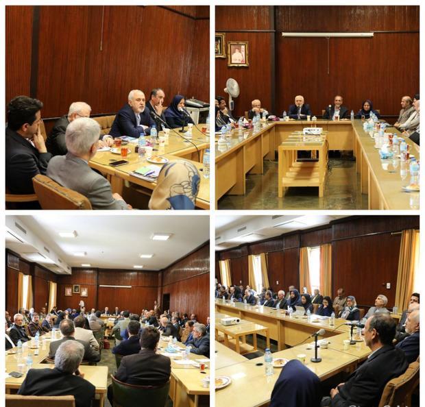 دیدار ظریف با اساتید و اعضای هیات علمی دانشکده حقوق و علوم سیاسی دانشگاه تهران