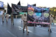 عزاداری یگانهای مسلح در خیابانهای شهر یزد