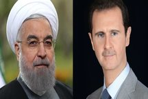 گفتوگوی تلفنی بشار اسد با حسن روحانی در پی حوادث تروریستی تهران