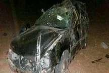 واژگونی خودرو در خوروبیابانک پنج مصدوم برجا گذاشت