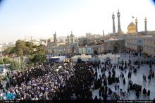 مراسم تشییع 5 شهید مدافع حرم حضرت زینب(س) در قم