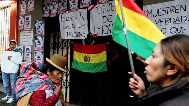 ادامه اعتراض ها در بولیوی و تماشاگر ماندن ارتش