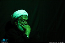 مراسم عزاداری شب تاسوعای حسینی در محضر استاد امجد