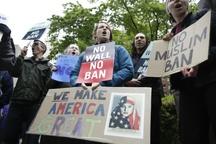 تظاهرات علیه فرمان تبعیض آمیز ترامپ علیه مسلمانان+ تصاویر