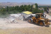 پنج بنای غیر مجاز در اراضی قزوین تخریب شد