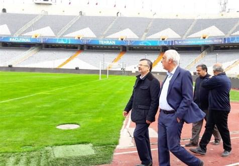 داورزنی از ورزشگاه آزادی دیدار کرد