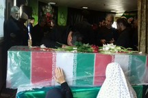 تشییع پیکر پاک عاشورایی در کرج