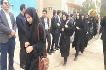 316 دانش آموز دهلرانی به مناطق عملیاتی اعزام شدند