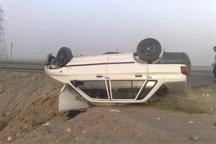 واژگونی پراید در قزوین یک کشته به جا گذاشت