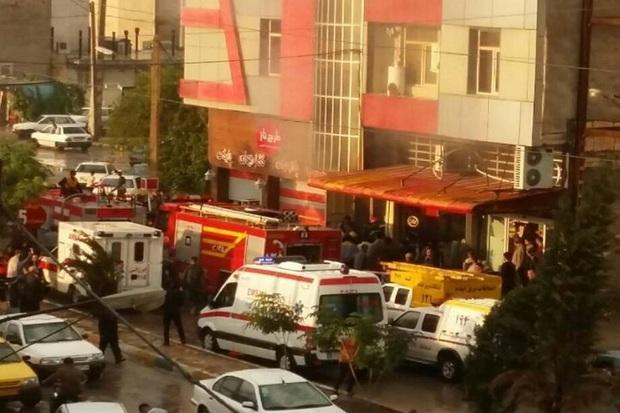 یک ساختمان در ایذه آتش گرفت