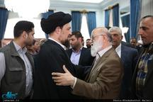 دیدار اعضای شورای اسلامی شهر تهران با سید حسن خمینی