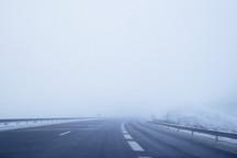 مه غلیظ دید رانندگان را در ارتفاعات شمالی زنجان کاهش داده است