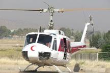 اعزام بالگرد و چهار دستگاه آمبولانس جمعیت هلال احمر کردستان به مناطق زلزله کرمانشاه
