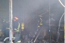 آتش سوزی در بازار حرمخانه تبریز 1 فوتی برجای گذاشت